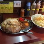 【閉店】インスパイア飯!神田「立川マシマシ」でマシライス・大盛りもやし!
