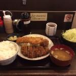 上野メガ盛り!「かつ仙」で三色盛り定食・大盛りご飯・山盛りキャベツ!