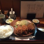 人形町メガ盛り!「三友」で巨大・爆弾カキフライ定食!ご飯大盛り!