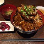 【閉店】神田デカ盛りランチ!「魚串さくらさく」で炭火豚丼・ご飯特盛・肉増し!