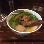 """両国人気ラーメン!「まる玉」で""""鶏白湯""""角煮あおさたまご入り!"""