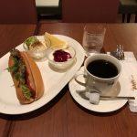 日本橋朝食カフェ!「ミカド珈琲」でモーニング!ホットドッグ&アメリカンコーヒー!