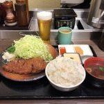 日本橋大盛りグルメ!「牛かつ もと村 コレド室町店」で麦飯とろろセット・200g・生ビール!