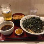 両国深夜グルメ!「かくや」で牛肉そば大盛り・ミニかき揚げ丼・生ビール!