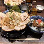 新潟駅デカ盛りラーメン!「しゃがら」で醤油ちゃーしゅーめん・特盛&背脂ライス!