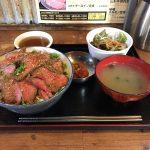 浅草橋大盛りランチ!「日本焼肉党」で薄切りレアステーキ丼・醤油バター!
