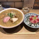新橋大盛りラーメン!「きたかた食堂」で醤油らーめん(まったり・太麺)&トロたくちらし!