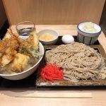 24時間営業!神保町「いわもとQ」で特盛そば・玉子天丼セット!