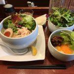 高田馬場大盛りラーメン!「蔭山」で鶏白湯麺塩そば・サラダ増量・肉みそ卵かけご飯!
