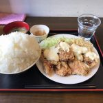 デカ盛りご飯ランチ!「八丁堀食堂」でからあげ定食・タルタルソース!