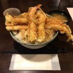 デカ盛り天丼!神保町「はちまき」で穴子海老天丼・大盛りランチ!
