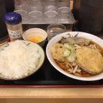 東京立ち食いうどん!日本橋・三越前「そばよし」で大盛り・野菜天・生卵!