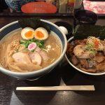 東京駅ラーメン!「斑鳩(いかるが)」で全部入り豚骨魚介・大盛り・上炙り肉ご飯!