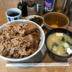 新橋牛丼!「牛めし なんどき屋」で大盛り牛めしセット・生卵!