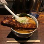 デカ盛りチャーシュー!神田「麺屋武蔵 神山」で巨大一本焼豚ラーメン・特盛!